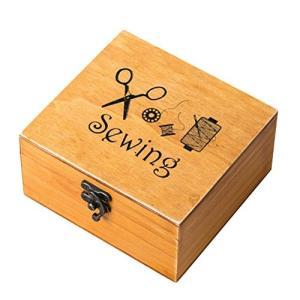 WINOMO 裁縫箱 ソーイング セット 縫製アクセサリー 30個セット 裁縫ツール 木製ボックス|shopnoa