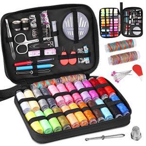 ソーイングセット 裁縫セット Yblntek 24種カラー 鮮やかな糸 手縫い針 キルト用裁縫道具 手芸/裁縫 持ち手付き 雑貨 帆布バッグ|shopnoa
