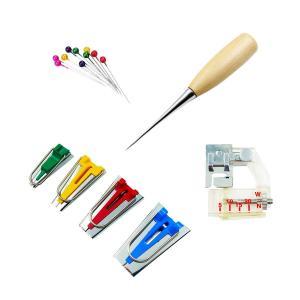 yiteng バイアス テープメーカー 家庭用ミシン アタッチメント 手芸 縫製 箱付き 7点セット|shopnoa