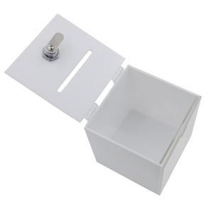 Aoakua アクリル 鍵付き アンケートボックス 貯金箱 募金箱 チャリティーBOX W12cm ...