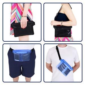 完全防水 バッグ PVC素材 3重チャック 防水ポーチ アウトドア 海水浴 プール 海 釣り ウェストバッグ カバー 携帯 スマホ 防水ケー|shopnoa