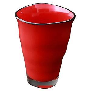 ガラス漆 ゆらら タンブラー M (化粧箱入) 赤 HT2543