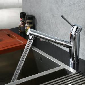 CREA キッチン蛇口 引出しホース式水栓 キッチン用水栓 シングルレバーワンホールキッチン水栓 伸縮 360度回転 2wayの吐水式 泡沫|shopnoa