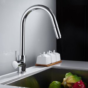 Super Junior キッチン用水栓 キッチン蛇口 シングルレバー 混合水栓 シャワータイプ シンク 引き出しホース付き 浄鉛処理 伸縮|shopnoa