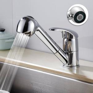 キッチン用水栓 キッチン蛇口 混合栓 シャワー シングルレバー 伸縮ノズル シャワータイプ 洗面水栓...