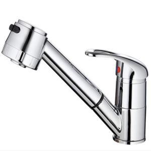 砂漠の小川 キッチン水栓 360度回転 シングルレバー 混合水栓 キッチン 洗面用 伸縮ノズル シャワーヘッド 水道 蛇口 取り付けホース|shopnoa
