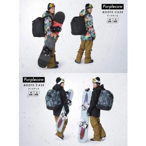 purplecow(パープルカウ) スノーボード バックパック 大型 ブーツバッグ ケース スキー 大容量 PCA-1990C BLK FR shopnoa