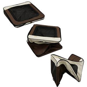 アイリスオーヤマ 折りたたみソフトケージ ベージュ/ブラウン OSC-500|shopnoa