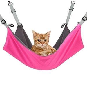 おしゃれ カワイイ ネコ ちゃん ハンモック 猫 リバーシブル 防水 折りたたみ 室内 用 チェアー ベッド (ピンク)|shopnoa