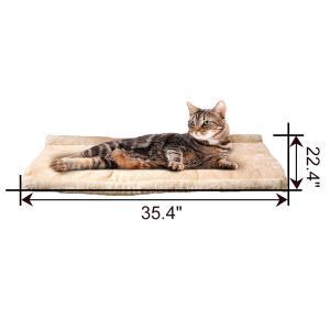 Yihiro ペットベッド ペットハウス マット 三角 トンネル 猫 中小型 犬 室内用 ペット寝袋 ソファ・クッション ふわふわ 厚み ベ|shopnoa