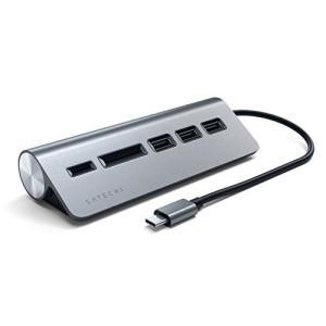Satechi Type-C アルミニウム USBハブ & Micro/SDカードリーダー (2018 MacBook Air, 2018|shopnoa