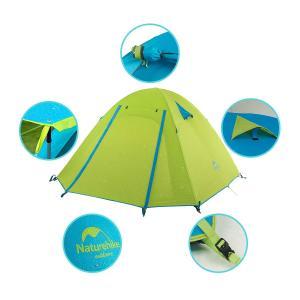 Naturehike公式ショップ テント Pシリーズ 3人用 アウトドア テント 二重層テント 超軽量キャンピングテント (グリーン, 4人 shopnoa