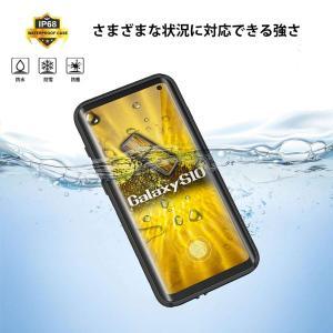 ギャラクシーS10 防水ケース Galaxy S10カバー 耐衝撃ケース IP68防水規格 6.1インチ対応 360°全方向保護 フェイスI|shopnoa
