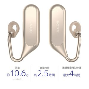 ソニー SONY 完全ワイヤレスイヤホン Xperia Ear Duo XEA20JP : オープンイヤー ボイスアシスタント機能 クアッド|shopnoa