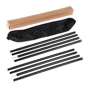 Soomloom テント タープ ウイング 用 アジャスタブル ポール 2本セット(ブラック) shopnoa