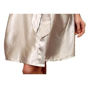 アズスカイAssky 女性用バスローブ ガウンバスローブ ローブ 浴衣式 ワンピース 前開き サテン生地 シルクのような肌触り おしゃれ 膝 shopnoa