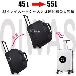 OIWAS ボストンキャリー バッグ 機内持ち込み 旅行 ソフト キャリーバッグ 45-55L 大容量 2-3泊 トラベルバッグ 2way|shopnoa