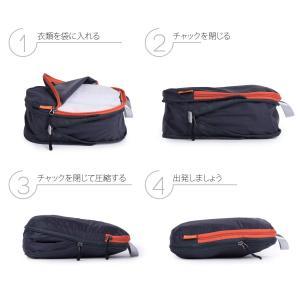 パッキングキューブ3袋セット、旅行用、圧縮袋、荷物/バックパックの整理整頓…|shopnoa