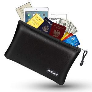 金庫耐火バッグ JUNDUN 貴重書類保管ケース 防爆バッグ パスポート ファイル 現金収納ケース 防水 防炎 耐高温 手提げ 集金袋|shopnoa