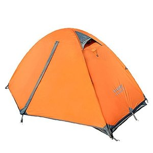 Kazumiya テント 一人用 二重層 超軽量 4シーズン 防風防水 uvカット メッシュ 通気 設営簡単 防災用 アウトドア用品 キャン|shopnoa