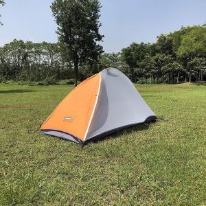 MALLIBU/FOREST テント 1.45kg 210T 軽量テント UL 一人用コンパクト アルミニウムポール&ペグ (オレンジ, 1 shopnoa