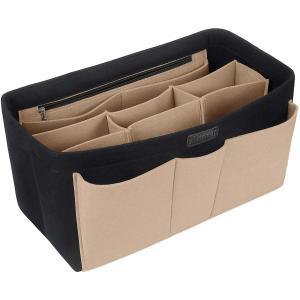 バッグインバッグ トート リュック 自立 収納整理 大容量 軽量 フェルト インナーバッグ インナーポケット 収納力抜群 仕分け 小物整理|shopnoa