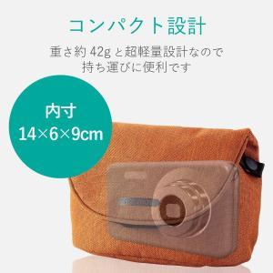エレコム デジタルカメラケース カジュアルタイプ LLサイズ 参考収容寸法:内寸:140×60×90mm オレンジ DGB-066DR|shopnoa