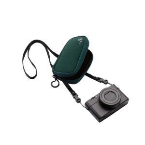 エレコム デジタルカメラケース ソフトケース ネックストラップ付 ネオプレン Mサイズ 参考収容寸法:113.5×35.5×66.5mm グ|shopnoa