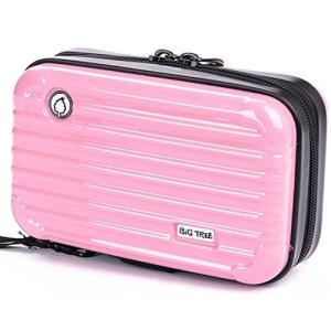 ビッグツリー 1way 多機能ポーチ ミニ スーツケース型 コンパクト ハードケース 全4色(ピンク)|shopnoa