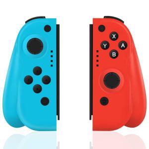 Xingmeng Nintendo Switch コントローラー Joy-Con の代用品 ジャイロ 振動 グリップ付き ジャイロ機能 ワイ shopnoa