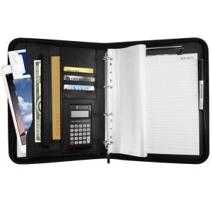 Aoonux A4 バインダー 多機能フォルダー クリップボード a4 ノートカバー 12桁電卓付き ビジネスオフィス用品 ビジネスバッグ|shopnoa