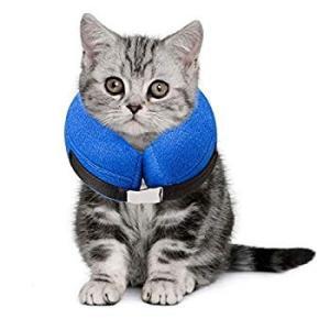 AeeYui ペット プロテクティブ エリザベスカラー 空気入れ式 犬用/猫用 避妊手術/去勢手術/皮膚炎などの介護用品 軽量 視界確保 傷|shopnoa