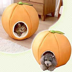アイリスオーヤマ あったか モチーフ ペットベッド みかん 小型犬・猫用|shopnoa