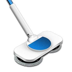 回転モップ 電動モップ 2020年新品モップクリーナー 電動回転モップ コードレス回転モップクリーナー 軽量 60分間連続嫁動 伸縮可能 軽|shopnoa