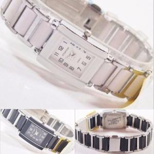 モノトーンスタイル腕時計メタルドレスウォッチ