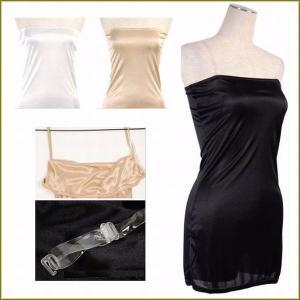 セクシーな透け感のあるドレスやワンピースのインナーにおすすめのベアトップドレスインナー【ペチコート】...