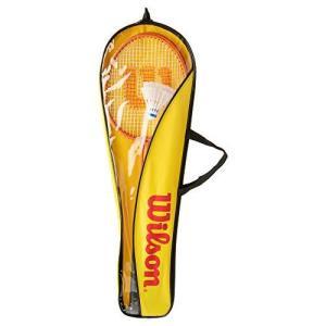 Wilson(ウイルソン) バドミントンラケット 2本 + シャトル 2個 セット バッグ付き ファ...
