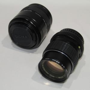 USED品 ペンタックス SMC PENTAX-M 100mm 1:2.8/SIGMA ZOOM-E セット|shopping-ecoeco