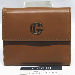 グッチ二つ折り財布 GGマーモント Wホック 035・2888・2240  USED品 送料無料|shopping-ecoeco
