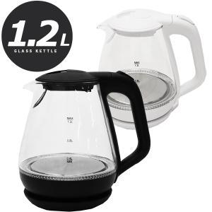 透明のガラスタンクがおしゃれな電気ケトルです♪  容量は1.0Lでコンパクトですので素早く沸かせて便...