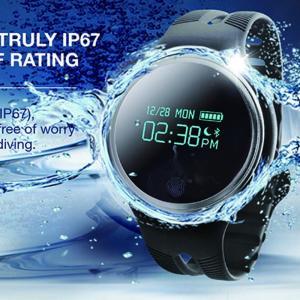 スマートウォッチ E07 丸形デジタル腕時計 日本語対応 ブルートゥース iPhone Android対応 日本語対応 生産終了予定