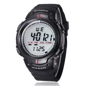 ファッションメンズスポーツ時計 SYNOKEブランド LED電子デジタル時計ライフ防水アウトドアドレス 腕時計ミリタリーウォッチ