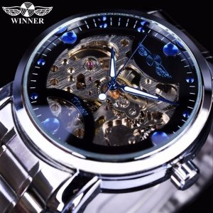 ブルーオーシャンファッションカジュアル デザイナーステンレススチールメンズスケルトン腕時計 メンズ腕時計ブランド 高級時計自動時計