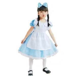 サイズ:120  大人気のアリスコスチュームをお子様用に♪    とってもきれいなさわやかなブルーに...