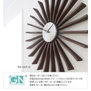 GEORGE NELSON FLUTTER CLOCK ジョージ・ネルソン フラッタークロック 正規ライセンス品 世界の巨匠 名作 掛け時計 c|shoppingjapan