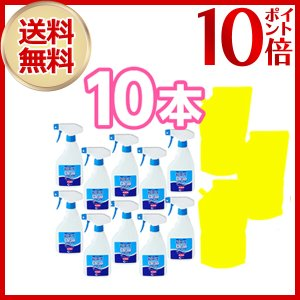 お得なプレゼント付き  超電水クリーンシュシュ Lサイズ 10セット(詰め替え3本おまけ付) アメトーク お掃除芸人 ミラクル水 電解アルカリイオン水 除菌|shoppingjapan