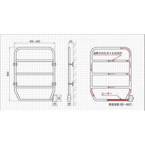 タオルウォーマー 壁付 TS-K80(クロムメッキ) タオル 暖かい タオルウォーマー   c|shoppingjapan|02