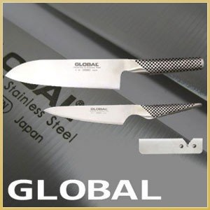 GLOBAL KNIFE グローバルナイフ・ギフト3点セット(G-2牛刀・GS-3ぺティーナイフ・スピードシャープナー) s|shoppingjapan