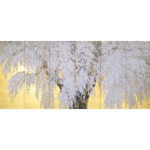 電話でのご注文になります 鈴木紀和子の「桜咲く」 A2. リバーシブル4曲1隻 (H905×W1860) c|shoppingjapan