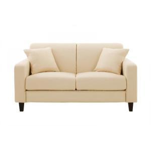 20色から選べる カバーリング ソファ スタンダードタイプ 145cm 「LeJOY」 040101502 ミルキーアイボリー